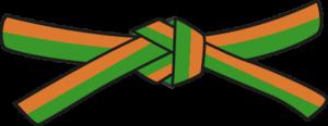 Judo - Cinto Laranja - Verde