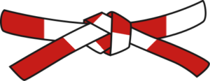Judo - Cinto Vermelho - Branco